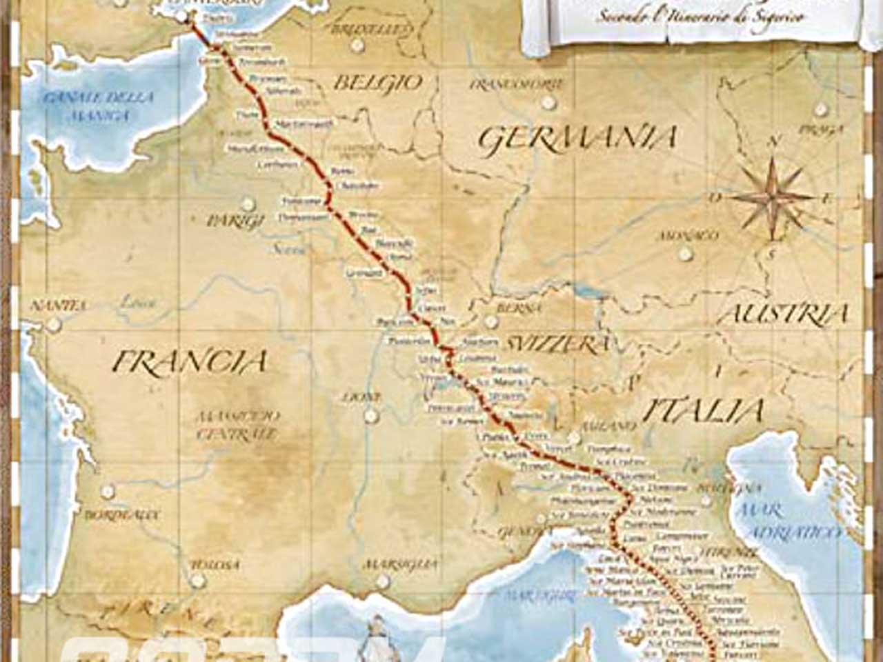 Mappa francigena - l'inizio della birra artigianale lessinia
